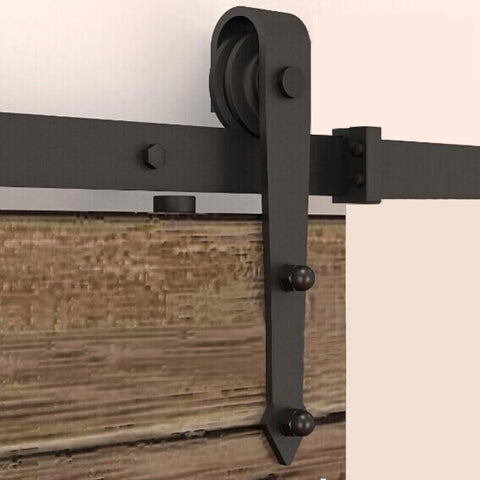 Black classic retro models type barn door rollers and sliders mechanism on China WDMA