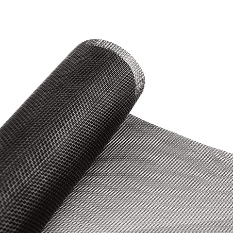 Black coated SS wire mesh/black coated stainless steel wire mesh window door screen mesh on China WDMA