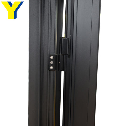 Bullet proof security door with laminated glass french style aluminum casement hinged door on China WDMA