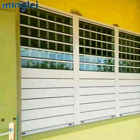 Buy replacing Aluminium blinds sash windows frames prices sale shutter window jalousie window on China WDMA