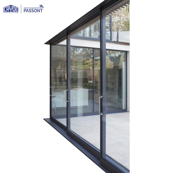 CAYOE Contemporary Powder Coated Aluminium Sliding Slimline Door on China WDMA