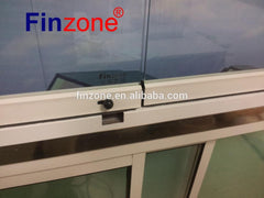 CE standard transparent accordion frameless sliding folding stacking glass door on China WDMA