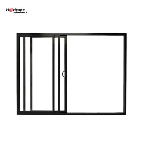 CSA NFRC AS2047 standard cavity black glass 3 panel triple aluminium frame sliding stacker door on China WDMA