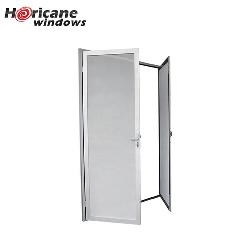 CSA NFRC AS2047 standard custom large quality secure retractable white aluminum screen doors for homes patio doors on China WDMA