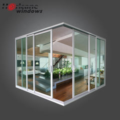 CSA NFRC AS2047 standard residential white interior double slim frame aluminium sliding doors with glass for sale on China WDMA