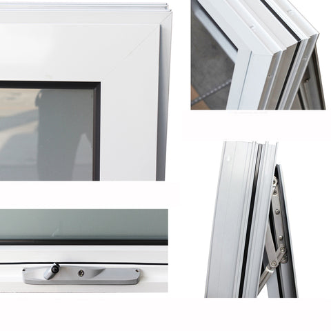Chain winder aluminium awning windows with toughened glass on China WDMA