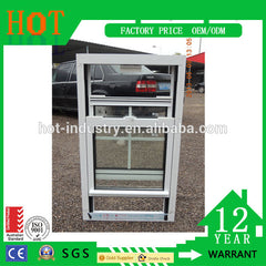 Cheap House Windows for Sale White Color PVC Single Top Hung Windows PVC Profile Sliding Windows on China WDMA