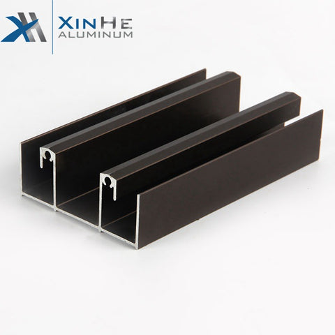 Cheap Normal Powder Coating Building Material Extruded Facade 4 Track Aluminum Sliding Window Profile for Chile and Bolivia on China WDMA