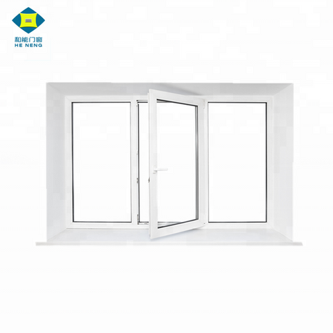 Cheap PVC 4 Panels Double Glaze Open Outside Replacement Casement Windows on China WDMA