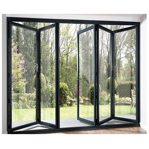 Cheap Price Outdoor Waterproof Aluminium Folding Doors, Foldable Tempered Glass Door Price,Aluminium Bifold Door on China WDMA