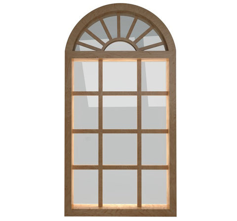 Cheap aluminum arch french doors and arch window design on China WDMA