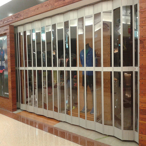 Cheap aluminum frame automatic/manual glass PC crystal roller shutter door/sliding doors/grill door on China WDMA