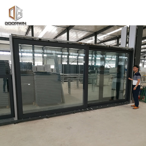 Cheap custom interior sliding doors cost of 3 panel patio door colored glass on China WDMA