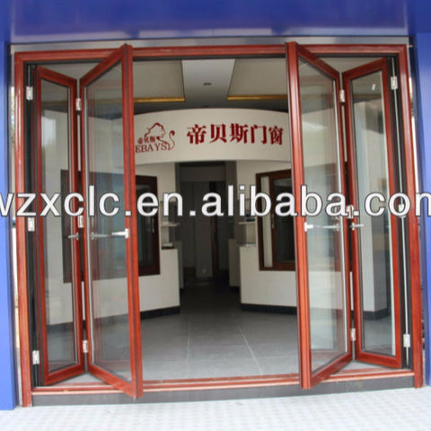 Cheap folding patio doors prices exterior bifold door on China WDMA