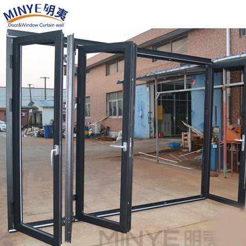 Cheap house aluminum patio sliding glass fold door on China WDMA
