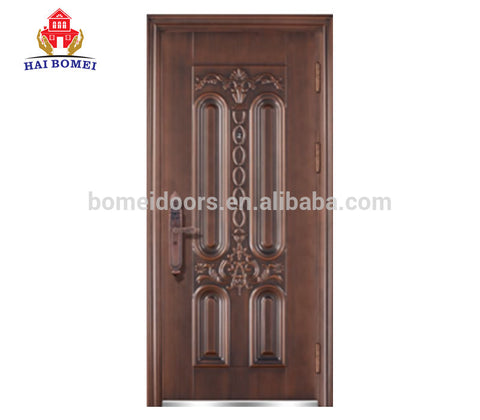 Cheap metal doors anti fire steel security door for interior steel sheet french fireproof exterior door on China WDMA