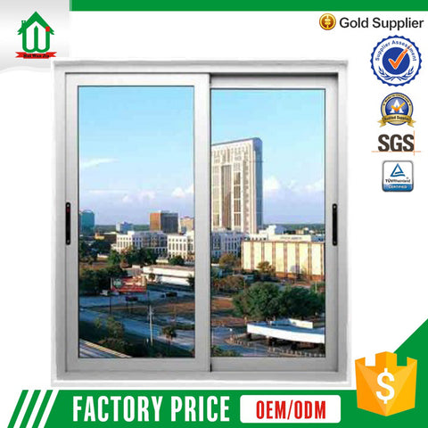 Cheap price aluminium sliding window using frame and glass on China WDMA