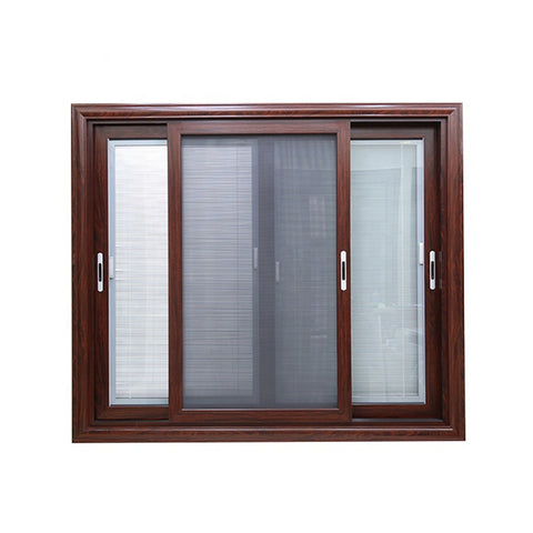 Cheap price fly screen office wood grain anodized aluminium sliding glass window for nigeria market on China WDMA