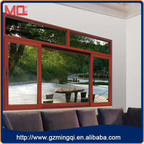 Cheap price for Aluminum louver air conditioner wood grain aluminum windows outdoor louvers turn on or off the casement window on China WDMA