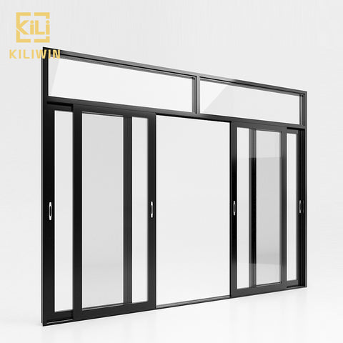 Cheap price french transom design 4 panel floor to ceiling temper glass sliding aluminium doors for pakistan patio on China WDMA