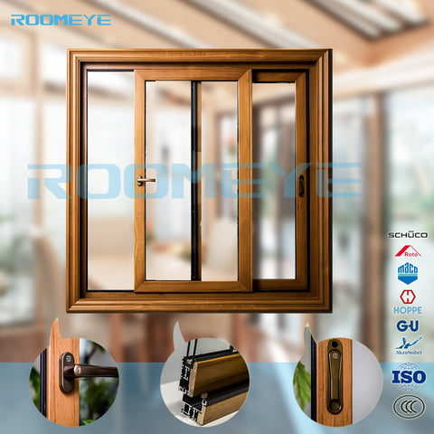Cheap price of aluminium wood grille design sliding window on China WDMA