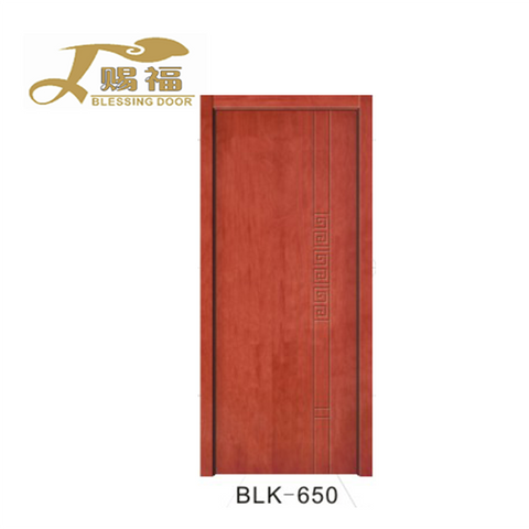 Cheap price panels Solid Oak Interior Wood Teak Wood Front Door Design upvc french doors on China WDMA