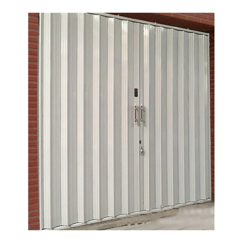 Cheap steel exterior accordion sliding door for warehouse on China WDMA