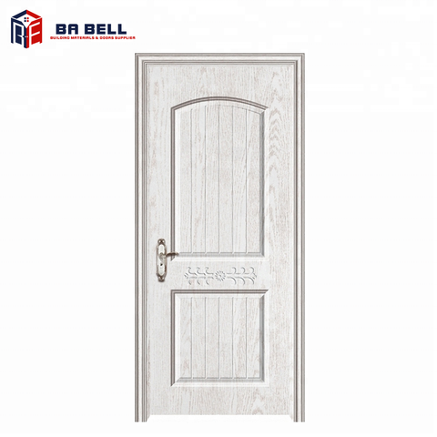 Cheap white contemporary front door designs french style entry internal wooden doors mdf ecological door leaf on China WDMA