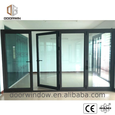 Cheapest double bifold door sizes doorwin folding patio doors price cost on China WDMA