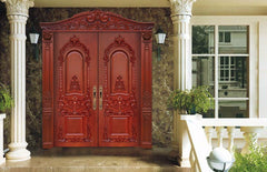 Chic Hand Engraving French Double Doors Exterior Decorative Exterior Doors Cost Of Solid Wood Doors on China WDMA