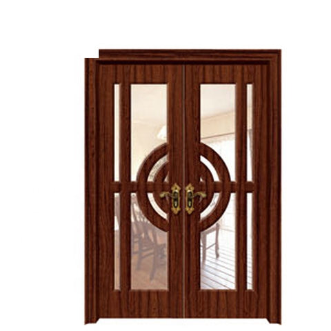 China 2019 latest design modern double open entrance solid wood door design exterior french doors on China WDMA