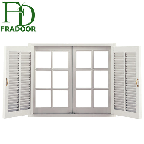 China Factory Price Double Glazed Aluminum Frame Louvre Windows with Mosquito Net on China WDMA