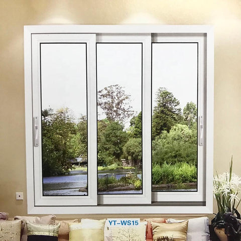 China Factory Price Upvc House Doors Windows 3 Panel Triple sliding window on China WDMA
