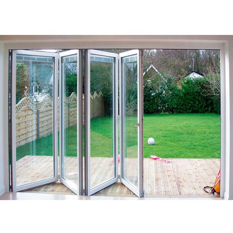 China Factory Supplier Outdoor Glass Aluminum Folding Sliding Patio Door Price on China WDMA