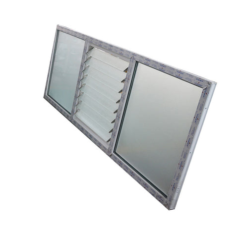 China Good Supplier UPVC Profile Windows Louver Frame Window with Exhaust Fan for Louvered Windows on China WDMA