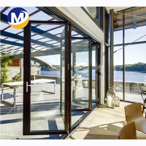 China Hot Sale Good Quality 6063 T5 Window And Door Or Industrial Use Anodized window aluminum frame double glass Folding Door on China WDMA