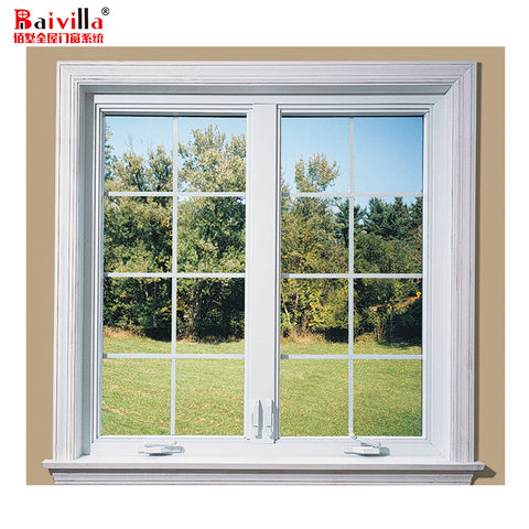 China Manufactory double large glass casement window glaze low e windows with internal blind on China WDMA