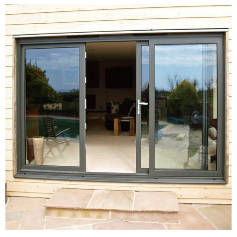 China Manufacturer Aluminum Muti Track Exterior Double Lowes Glass French Patio Sliding Doors on China WDMA
