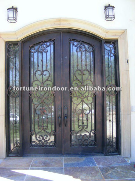 China Produced Cheap Cost double wrought iron doors design With Good Quality 2012 on China WDMA