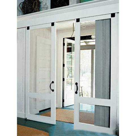 China Supplier french pvc slide door patio double glazed plastic/vinyl casement glass doors interior with fair price on China WDMA