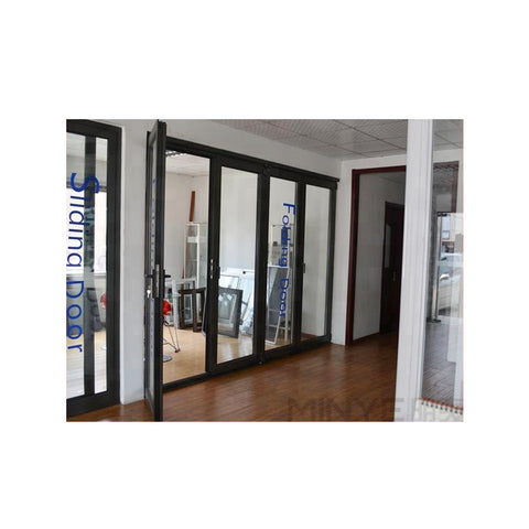 China Top Brand Aluminum Alloy patio folding storm glass door on China WDMA