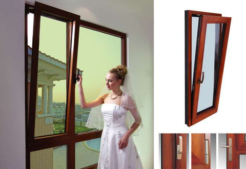 China Top Manufacturer Double Glazing Cheap uPVC Plastic Profile Awning Window on China WDMA