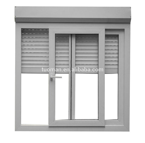 China aluminum windows and doors with roller shutter on China WDMA