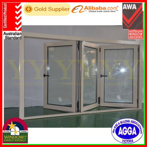 China best commercial and residential aluminium exterior soundproof bifold windows for low price on China WDMA