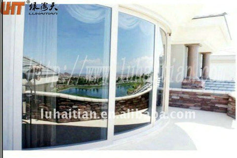 China factory - fixed curved upvc window with security glass on China WDMA