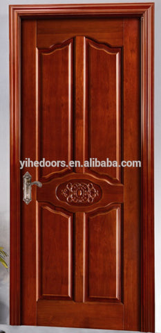 China hot sale pane wood door/panel solid door/plain wood bedroom door on China WDMA