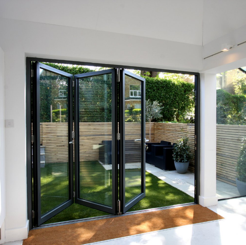 China made High quality aluminum folding glass patio door with good price on China WDMA