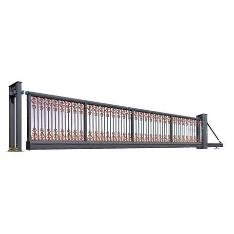 China manufacture electric automatic aluminum driveway folding gate door price retractable sliding welding gate design SGM-10 on China WDMA