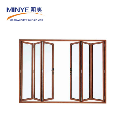 China manufacture french double seal-ing thermal break aluminium folding patio doors prices on China WDMA