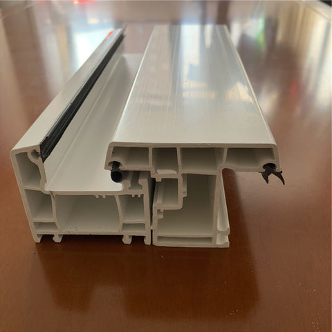 China manufacturer laminated wholesale with lower price 70mm upvc window sash pvc hollow profiles on China WDMA